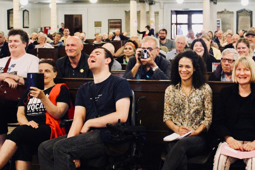 Photograph of attendees at The People's Assembly Against Austerity CHANGE IS COMING conference.