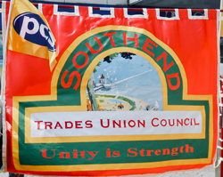 Southend Trades Union Council banner