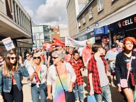 Photograph of the Basildon mini-Pride March.