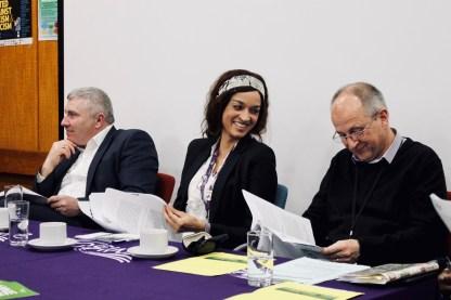 Photograph of Chris Jenkinson (Regional Secretary for UNISON Eastern), Louise McDermott (Branch Senior Vice President) and Steve Cooper (Branch Chair) at Southend UNISON AGM 2019.