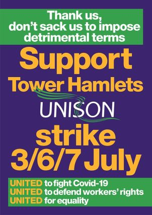 Tower Hamlets Strike Poster