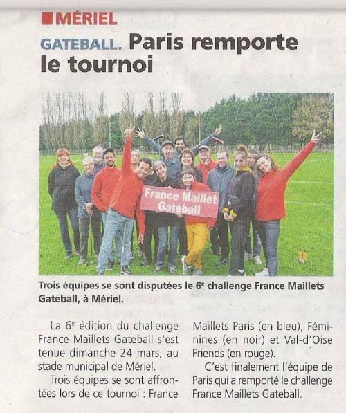 La Gazette du Val d'Oise - Tournoi de Paris