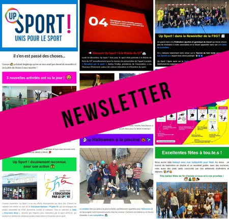 newsletter Up Sport ! décembre 2019