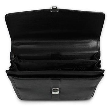 cd8d970ffd5b9 Bag Street Aktentasche Herren schwarz Kunstleder-Aktentasche Aktenkoffer  Bürotasche mit Fee-Anhänger von SilberDream