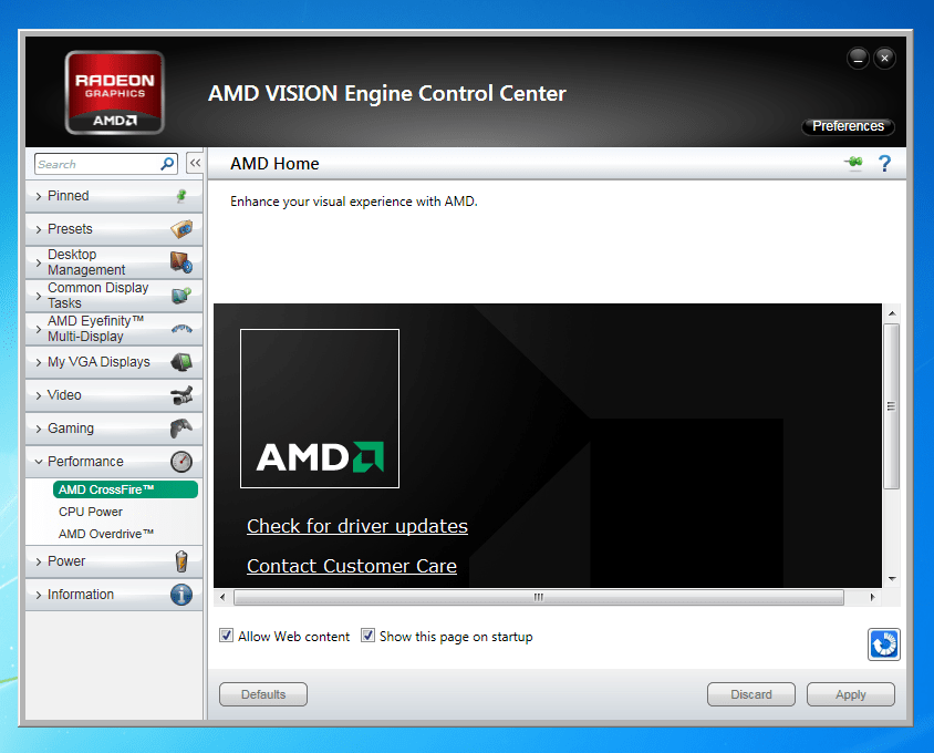 AMD VISION preventing Secondary Video Card Function – United PC