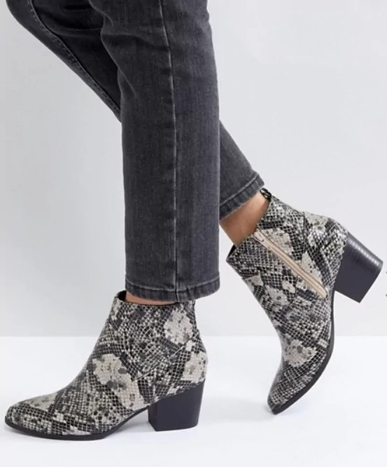 taylor swift reputation tour outfit ideas snake print ankle boots asos