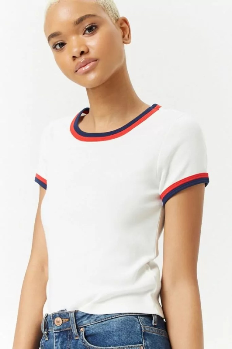 taylor swift reputation tour outfit ideas forever21 striped ringer tee