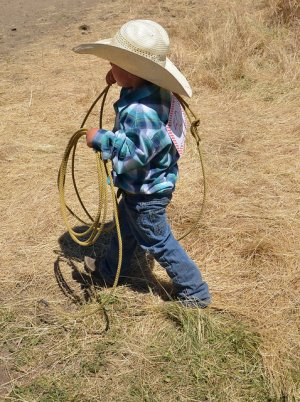 Young Cowboy with Rope