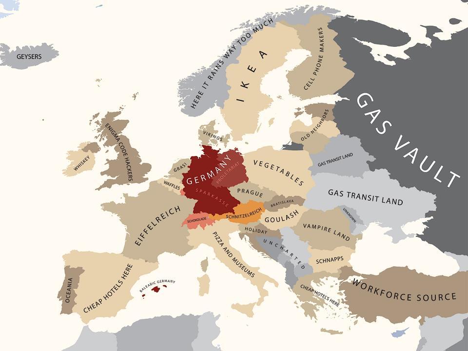 Europa según los alemanes