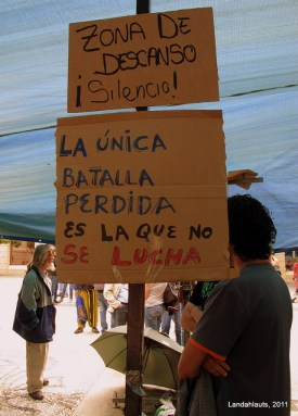 """[Photo:#acampadagranada Flickr account Landahlauts ]"