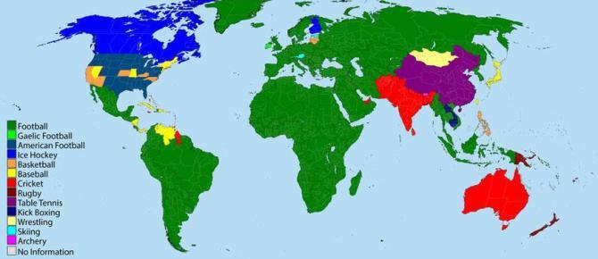 Deportes más populares por país