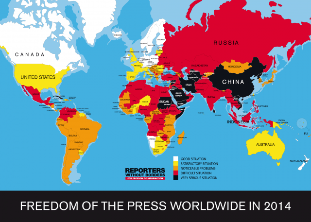 Freedom of the press index 2014