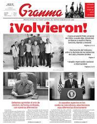 La portada del Granma celebró el retorno de los 5 héroes cubanos