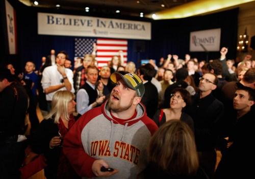 Imagen del caucus de Iowa, febrero de 2016. Imagen: Chicago Tribune Flickr.