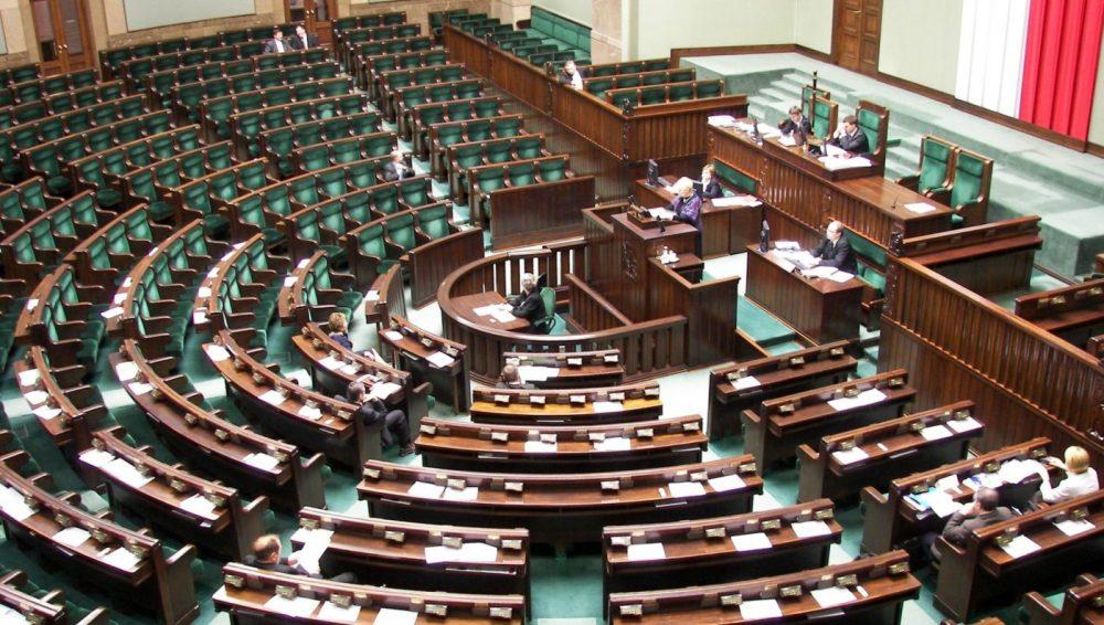 Interior del Parlamento polaco