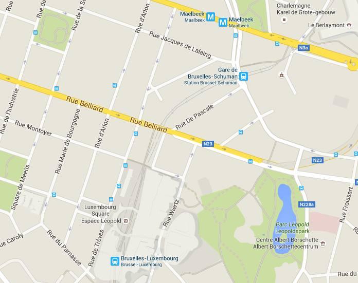 Mapa de la zona. Imagen: Google Maps.