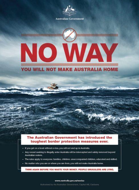 Fragmento de una campaña correspondiente a la Operation Sovereign Borders [Foto: Australian Government vía WikimediaCommons].