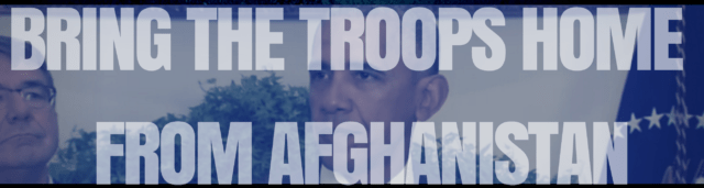 bring troops home afghanistan