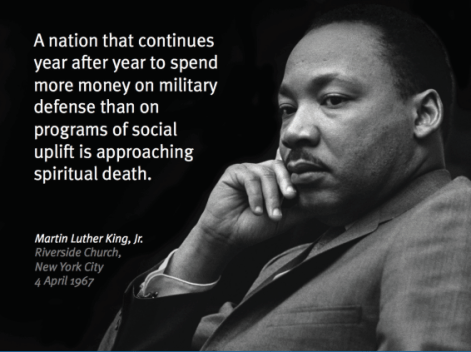 mlk military spending quote