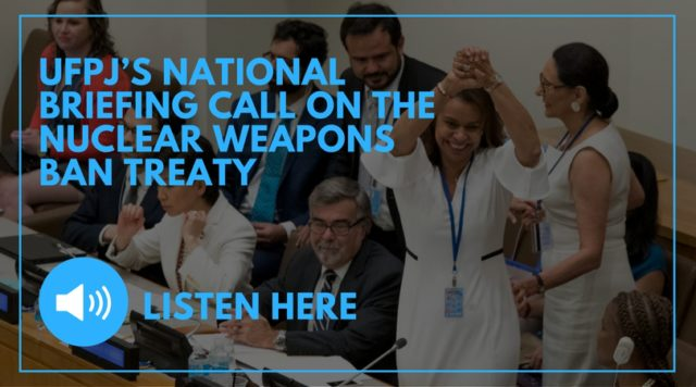 ban treaty briefing call nuclear peace