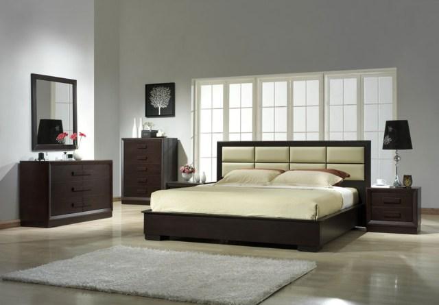 Boston Modern Platform Bed Solid Wood Bedroom Set