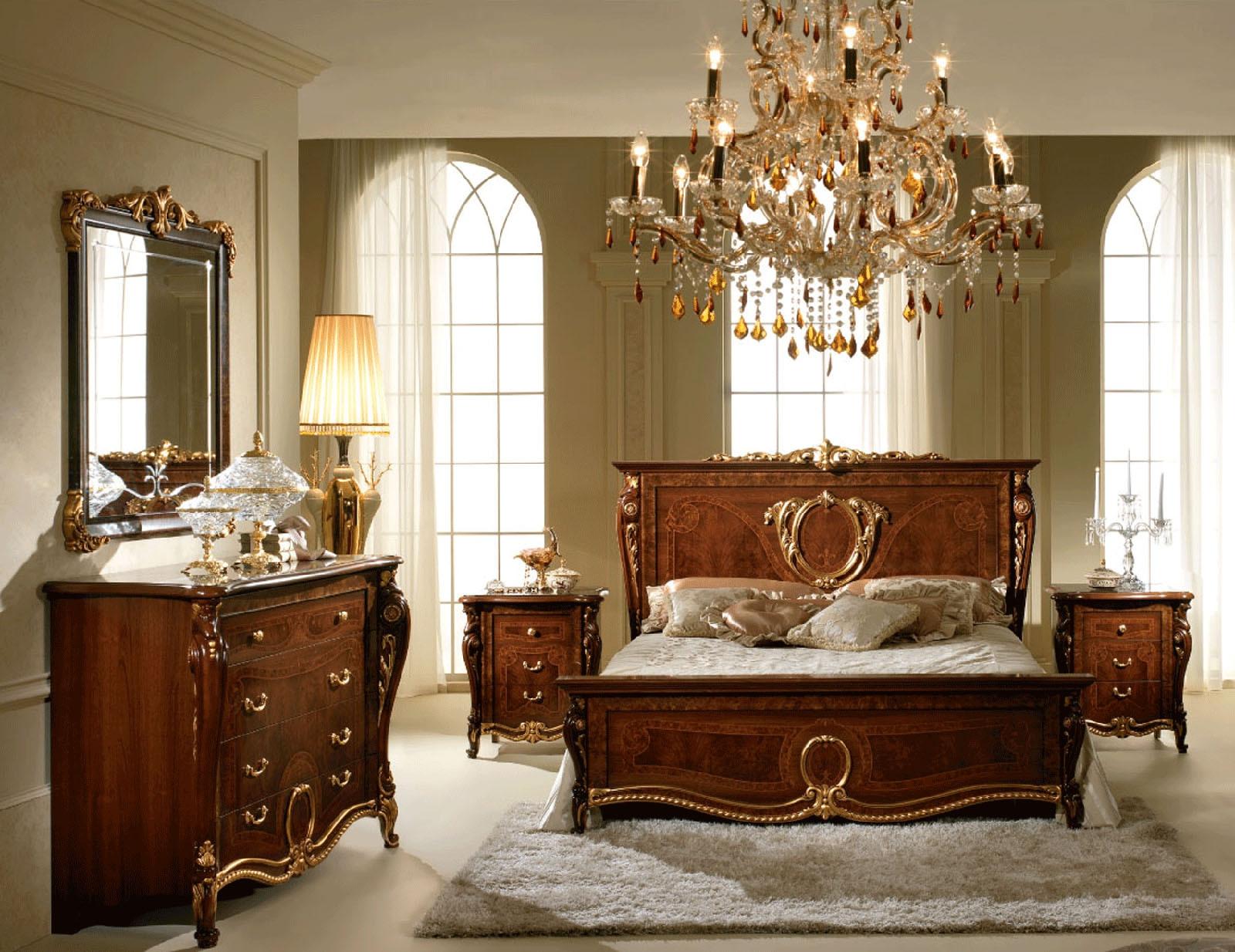 donatello italian bedroom set in walnut finish
