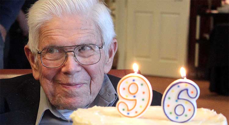 Family, friends fete Walter Sommers with birthday party at Westminster Village