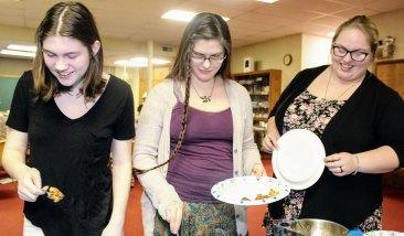 Seder guests sampled several varieties of charoses