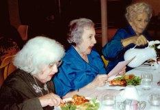 From left: Evelyn Cutler, Pearl Stern, Anne Gurman.