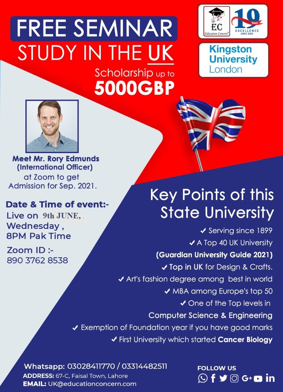 Free Seminar – Study in the UK