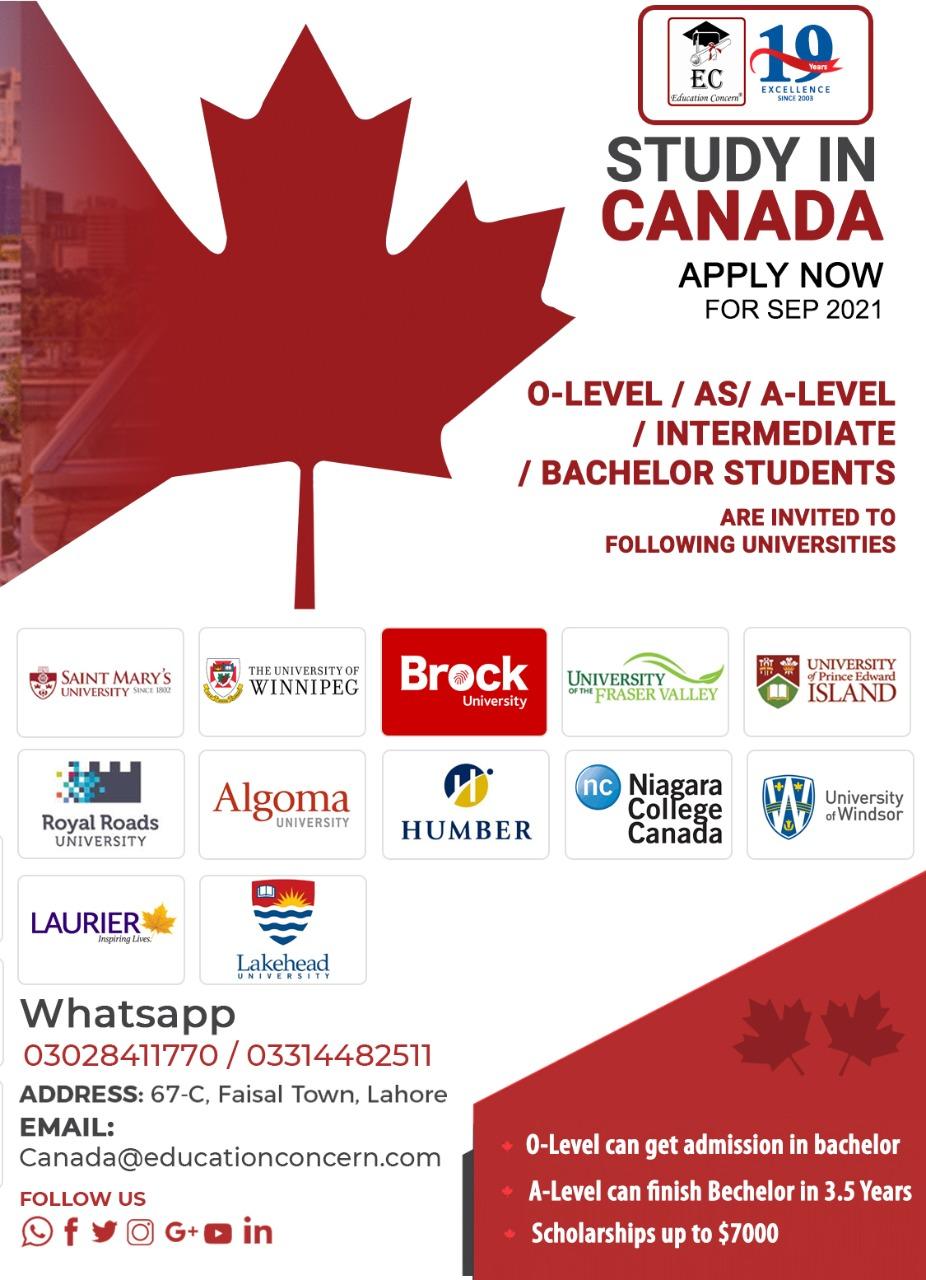 Study in Canada.
