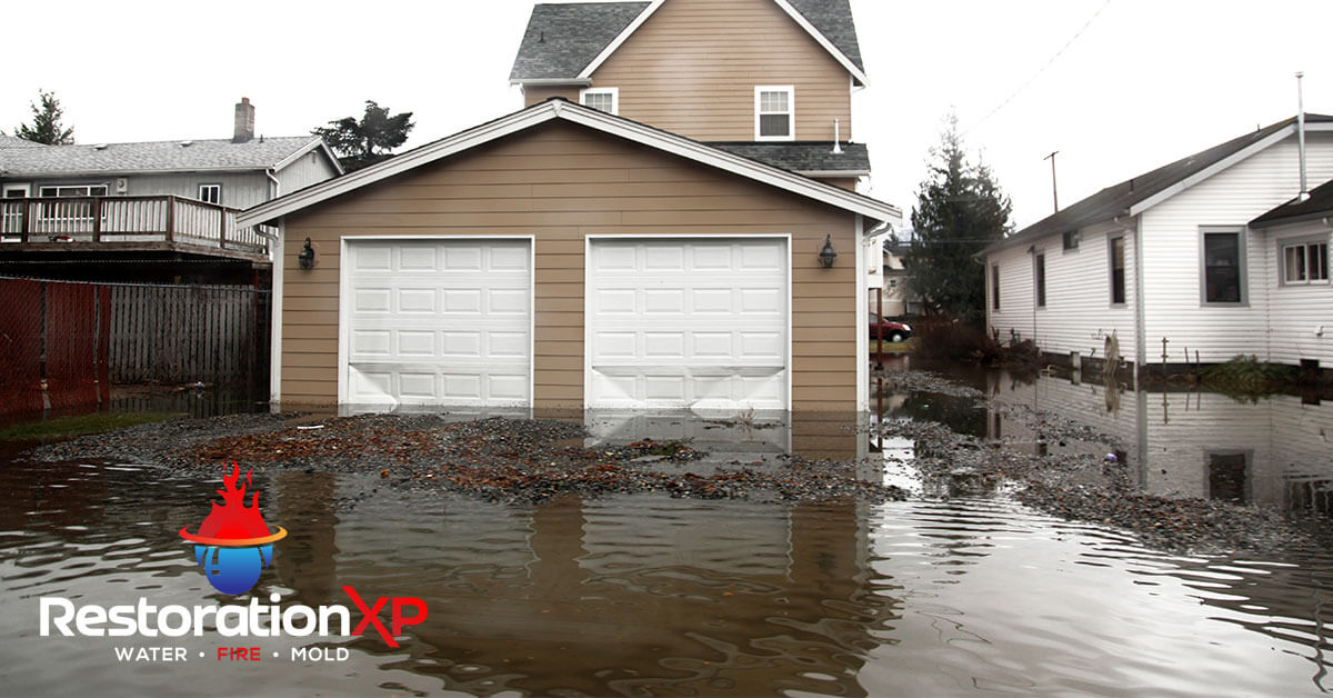 Emergency flood damage restoration in Frisco, TX