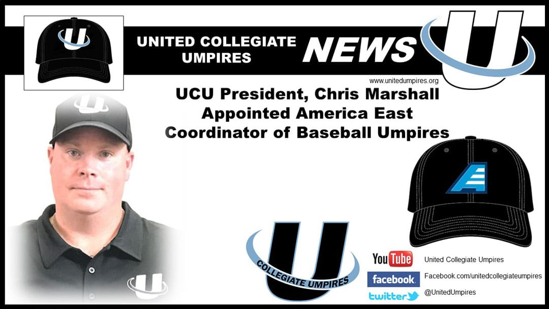 Marshall Appointed America East Coordinator of Baseball Umpires