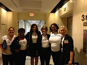 In April, dozens of United Way volunteers visited the Tallahassee to meet with legislators about upcoming budget issues.