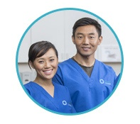 two nursing students smile for the camera and endorse the Unitek program