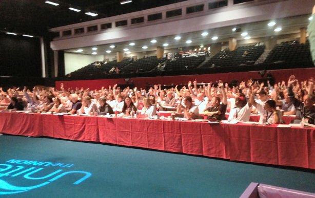 Delegates at Unite Policy conference 2016
