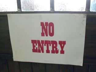 No Entry sign on a door