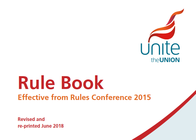 Image of Unite Rulebook cover