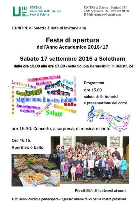 Unitre So Volantino apertura 2016-17