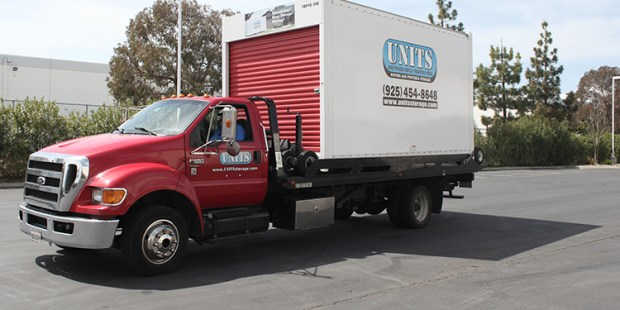 UNITS portable storage container being delivered in Concord CA
