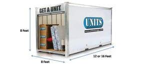 UNITS storage container used for portable storage in Oakley