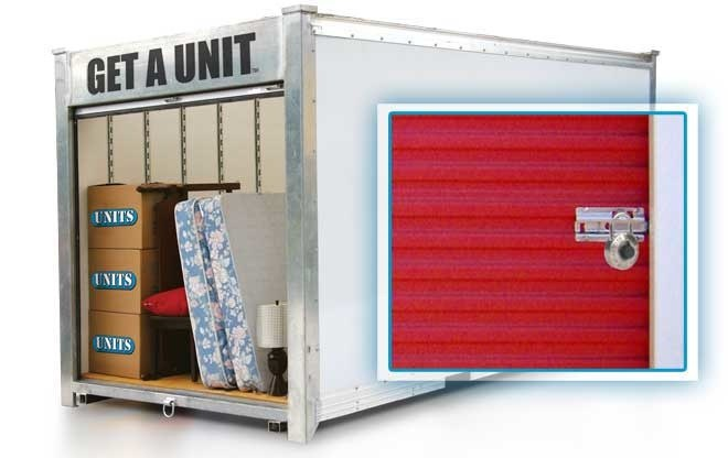 example a UNITS container for portable storage in Martinez