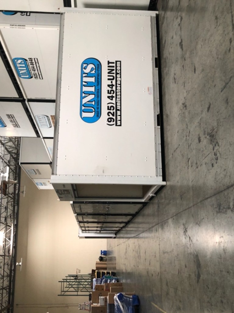 Our Livermore UNITS secure warehouse