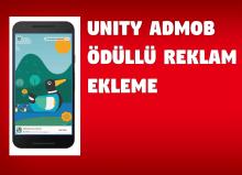 Unity admob ödüllü reklam ekleme