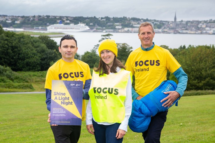 Focus Ireland announce Spike Island as host of Shine a Light Night 2019 proudly supported by Bord Gais Energy. Pictured at the announcement in Spike Island, were: John Crotty, Spike Island Development Company; Fiona Corcoran, Radio Journalist, and Philip Gillivan, Cork Business Association.  Picture: Michael O'Sullivan /OSM PHOTO