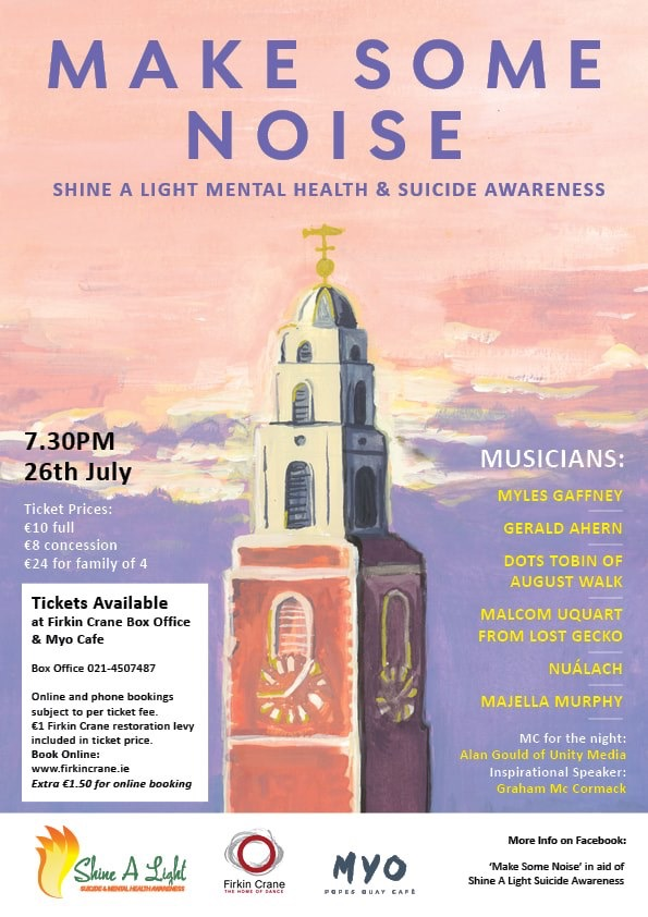 The poster for the Make Some Noice Concert in aid of Shine a Light