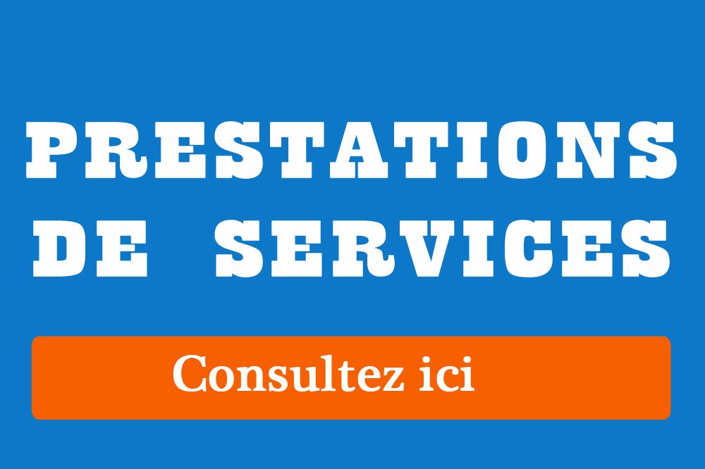 PRESTATION DE SERVICE