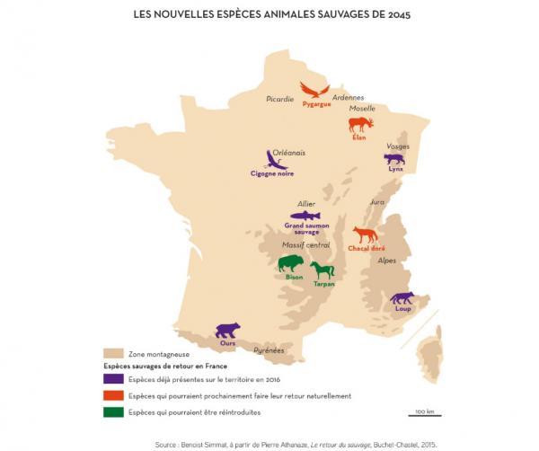 Crédits: L'atlas de la France du futur, notre avenir en 72 cartes