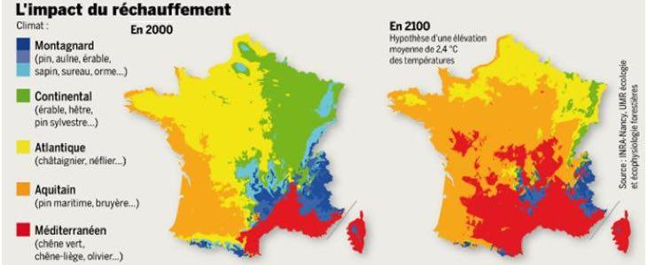 changement climatique en France