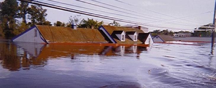 inondation suite à un cyclone